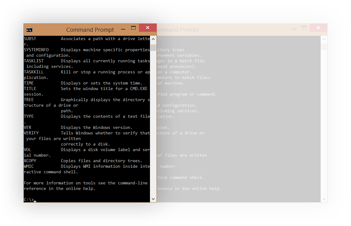 Text resized in new Command Prompt