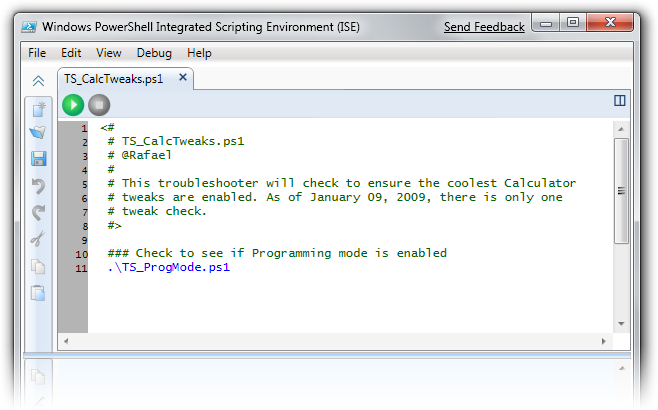 Troubleshooter script in PowerShell Integrated Scripting Environment (ISE)